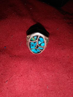 Vintage turquoise stones silver Indian ring sz.7/8 for Sale in Port Arthur, TX