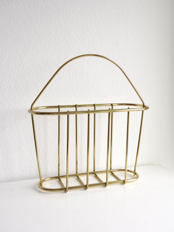 Gold Magazine Rack