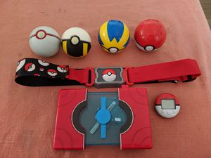 Pokemon lot belt, pedometer Pokedex, pokeballs for Sale in Hollywood, FL