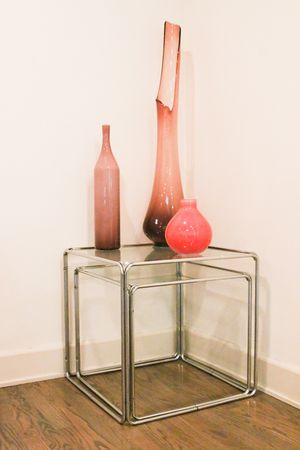 Glass & Chrome Nesting Tables for Sale in Beverly Hills, CA