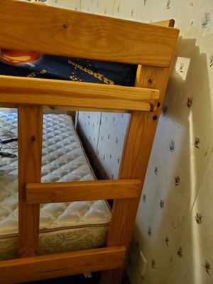 Wooden bunk bed. (Top twin, bottom double) for Sale in Efland, NC