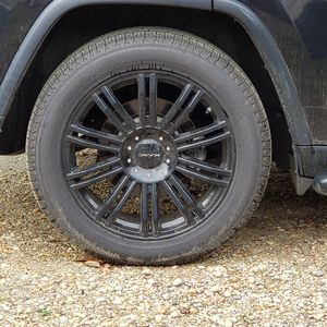 """18"""" Rim and tires less than 2k miles on tire. for Sale in Fort Lee, VA"""