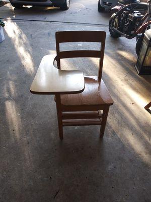 Wood school style desk for Sale in Smyrna, TN