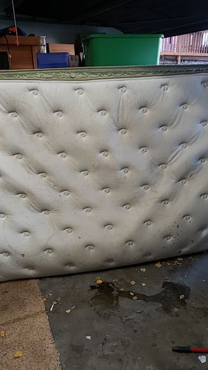 Free queen bed & box spring for Sale in Anchorage, AK