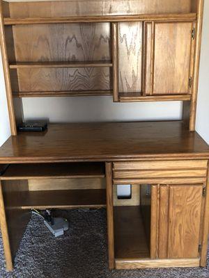 Oak Express desk with hutch for Sale in Garrett, IN