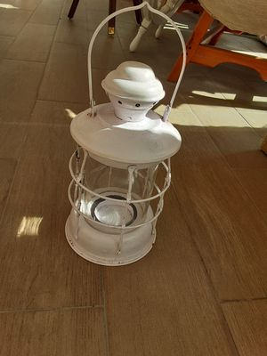Decorative Nautical Decor white tea light candle holder lamp $15 for Sale in Alhambra, CA