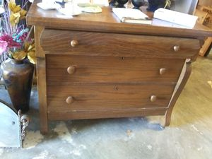 Solid tiger oak wood antique dresser for Sale in Pinellas Park, FL
