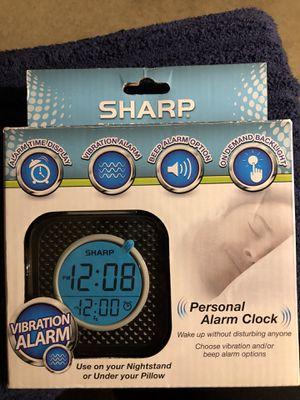 Sharp Personal Alarm Clock -New- Vibration Alarm for Sale in Shoreline, WA