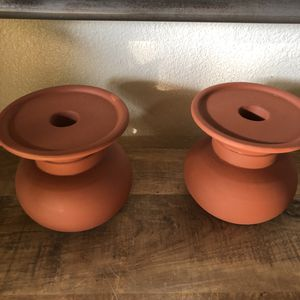Set of terra cotta candle holders for Sale in San Diego, CA