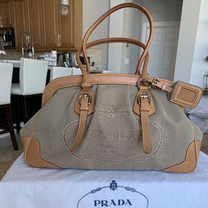 PRADA Camel Jacquard Canvas Bag for Sale in Pembroke Pines, FL