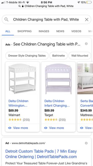 Baby changing table for Sale in Melvindale, MI