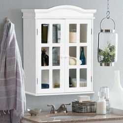 P28-10 .... Wall-Mount Bathroom Double Doors Shelved Storage Cabinet for Sale in Diamond Bar,  CA