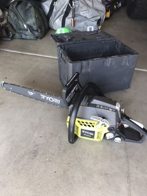 """Ryobi 18"""" Gas chainsaw for Sale in Bakersfield, CA"""
