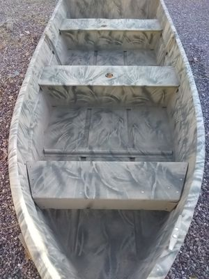 11 foot long aluminum flat bottom boat with paddle for Sale in Apache Junction, AZ
