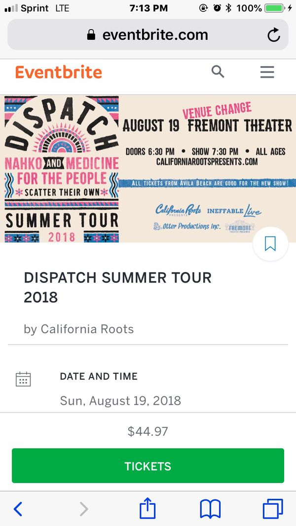 Dispatch tour ( nahko and medics for the people