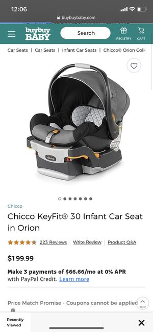New in box Chicco keyfit 30 Orion infant car seat for Sale in Bakersfield, CA