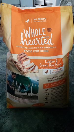 Whole hearted dog food 45lbs new for Sale in Virginia Beach, VA