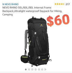 NEVO RHINO Backpack Hiking, Camping for Sale in Pomona, CA