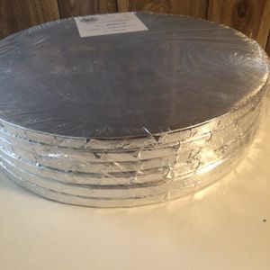 "New , Real Value 6-pack 14"" Cake Drums, Silver for Sale in Camden, SC"