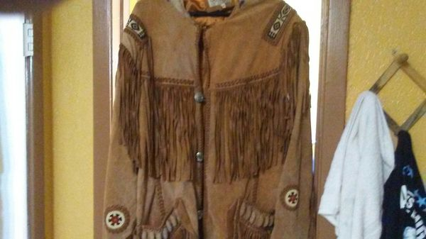 Sully- fringed -suede leather cowboy coat
