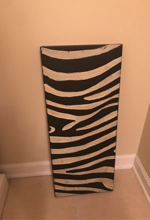 Zebra metal wall decor for Sale in West Chicago, IL