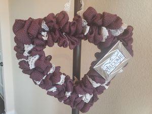 Purple Door Wreath Welcome Sign for Sale in Haslet, TX