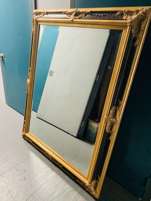 Rustic Extra Large Mirror Gold/ Black trim for Sale in San Diego, CA
