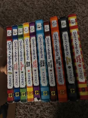 Diary of a wimpy kid book 1-11 missing 8 for Sale in Moline, IL