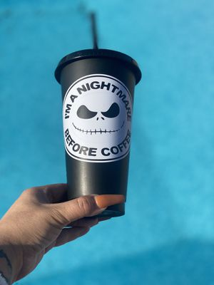 nightmare before Christmas reusable cup 24 ounces for Sale in Santa Fe Springs, CA
