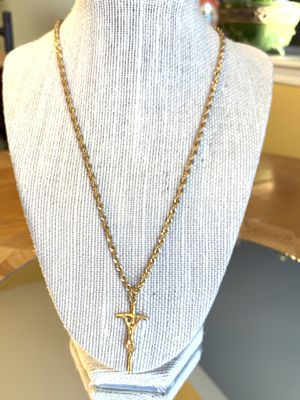 Gold tone rope chain necklace for Sale in Plainfield, IL