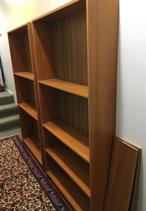Two wooden bookshelves for Sale in Bellevue, WA