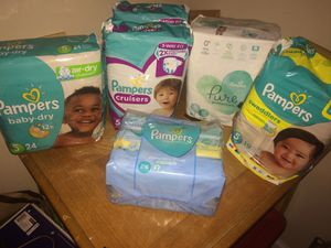 Pampers Bundle- Size 5 (6 items total) for Sale in Burtonsville, MD