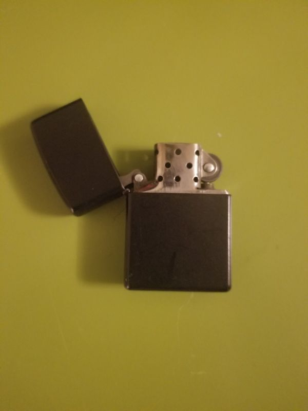 Genuine Matte black zippo lighter