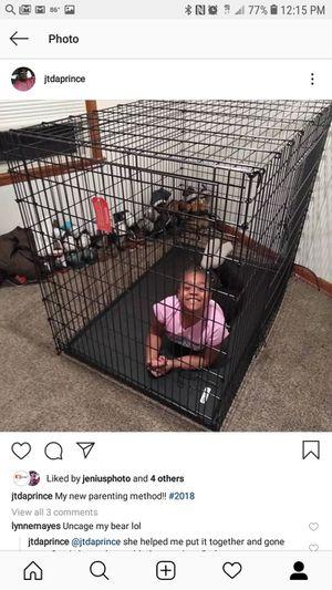 54' xxl wire dog crate for Sale in Wichita, KS