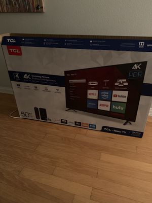 "50"" TCL 4K Roku TV - NEW for Sale in San Diego, CA"