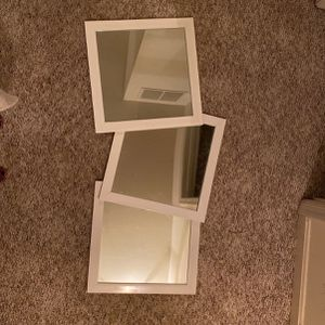 3 16in x 16in White Framed Mirrors for Sale in Burtonsville, MD