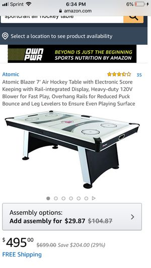 Air hockey tabel for Sale in Albuquerque, NM