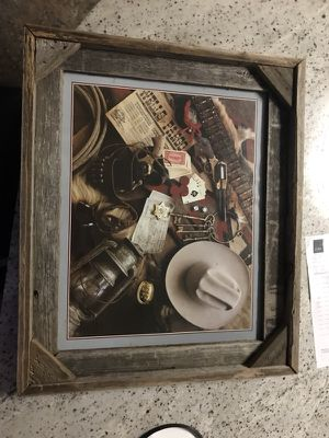 Rustic Western Photo in Frame for Sale in Austin, TX