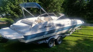 2007 Hurricane 23 ft deck boat w/ mercury I/o motor for Sale in Milford, PA