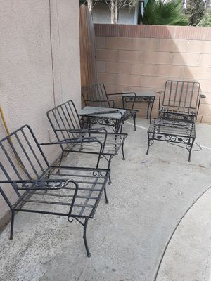 Rod iron chairs for Sale in Norco, CA