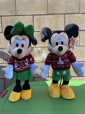 Disney Christmas Mickey Mouse and Minnie Mouse Holiday Greeters for Sale in Baldwin Park, CA