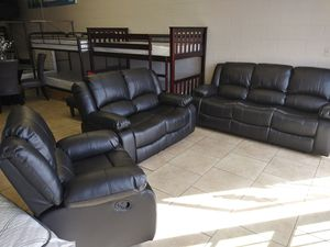 3pcs recliners $1299 free delivery for Sale in North Las Vegas, NV