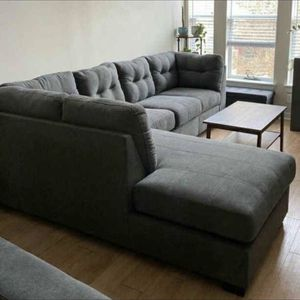 New 🎉Maier Charcoal Sectional & Couch $39 down for Sale in Houston, TX