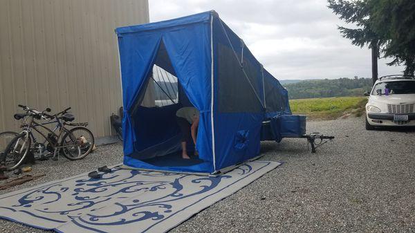 Tent Trailer, Windward motorcycle tent trailer