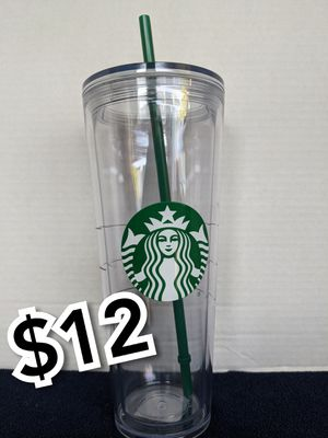 New Starbucks tall clear cup for Sale in Los Angeles, CA