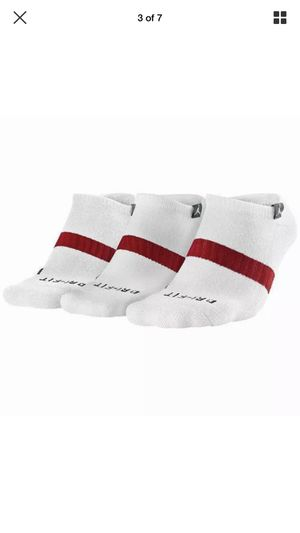 New NIKE Mens Air jordan DRI-FIT CREW socks WHT 3 pairs one pack, Nike, No Show for Sale in Chicago, IL