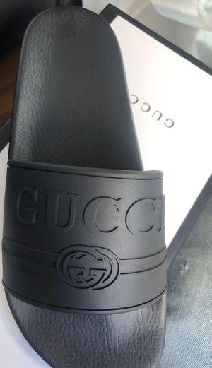 Gucci slides (black) sz9.5 for Sale in Jacksonville, FL