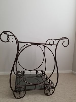 antique/vintage design glass top wine cart for Sale in Seattle, WA