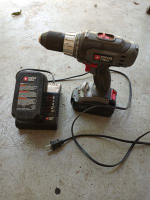 Porter Cable 18 Volt Cordless Drill with 2 Batteries and Charger for Sale in West Columbia, SC