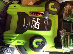 Greenworks 40v lithium ion lawn mower for Sale in Elk Grove, CA